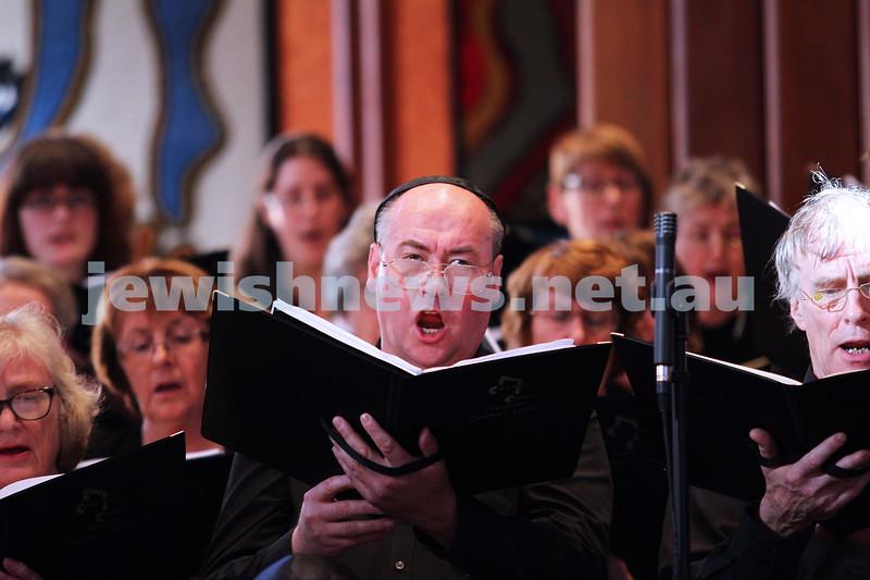 15-6-14. Temple Beth Israel. Sacred Music Concert - An Interfaith Celebration. Members of the Tudor Choristers. Photo: Peter Haskin
