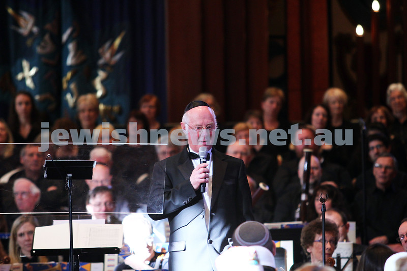 15-6-14. Temple Beth Israel. Sacred Music Concert - An Interfaith Celebration. Douglas Heywood conducts the choir and orchestra. Photo: Peter Haskin