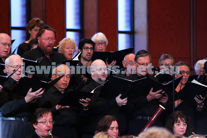 15-6-14. Temple Beth Israel. Sacred Music Concert - An Interfaith Celebration. Members of the Tudor Choristers. Photo: Peter Haskin