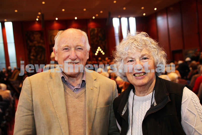 15-6-14. Temple Beth Israel. Sacred Music Concert - An Interfaith Celebration. Paul and Helen Gardner. Photo: Peter Haskin