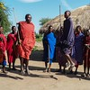 Masai warriors dancing