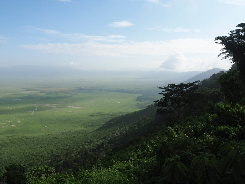Overlooking the crater