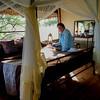 Interior of our tent cabin, Lake Burunge Lodge