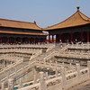 View of terraces and buildings - Forbidden City, Beijing