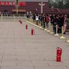Fire Extinguishers (Precautions against demonstrations)  Tiananmen Square, Beijing