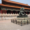 Lion at entrance to main palace - Forbidden City Beijing