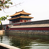 Moat and wall surrounding outside of Forbidden City - Beijing