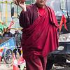 Buddhist Monk walking around Jokhang Temple - Lhasa