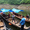 Transfer to dugouts for moving further up river -Tributary of the Yangtze in the Three Gorges, Yangtze River