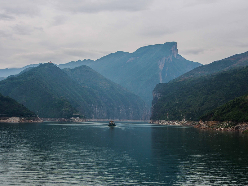 Enterting the first of three gorges - Yangtze River