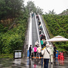 Escalators to observation point - Three Gorges Dam, Yangtze River