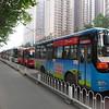 City buses at morning rush hour - Xian