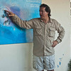 Our Galapagos tour leader, Jaime, explaining the ocean currents around the Galapagos