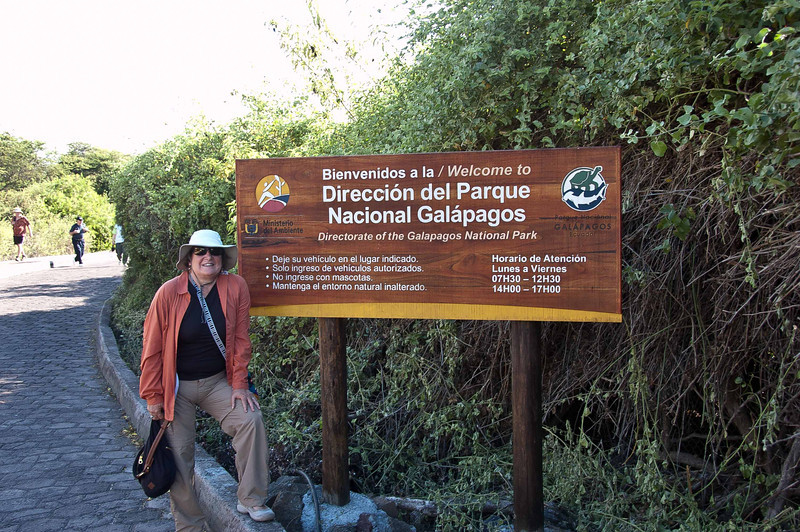 Our traditional photo of a National Park Sign. This time is was Phyllis' turn to pose,.