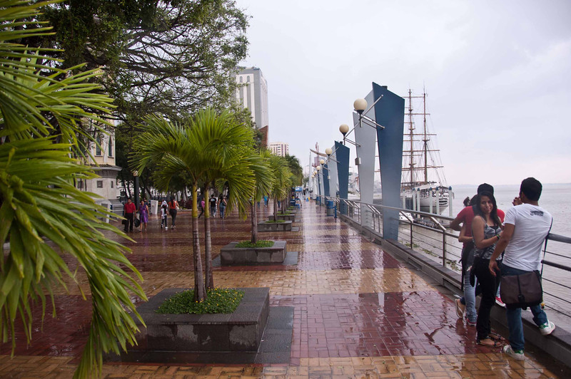 The River Walk along the Guayas river in Guayaquil