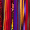 Very colorful fabrics for sale.