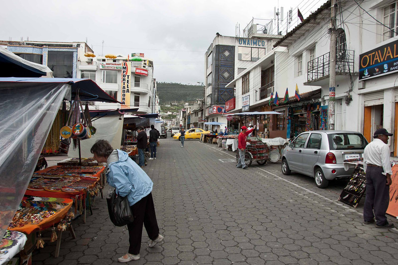 Shopping in Otavalo.