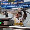 Mahi at the fish stand.