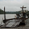Old ferry used for crossing the Napo river.