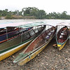 Canoes used to take us down the Napo river at the end of the paved road.