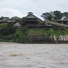 View of the Casa del Suizo from the Napo river.