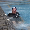 Enjoying the hot springs at Papallacta in the Andes, 11,000 feet above sea level.