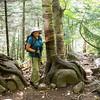 Trail up Cascade Peak, near Lake Placid