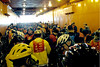 Cyclists Crowded into the Bottom of the Staten Island Ferry on the way to Manhattan