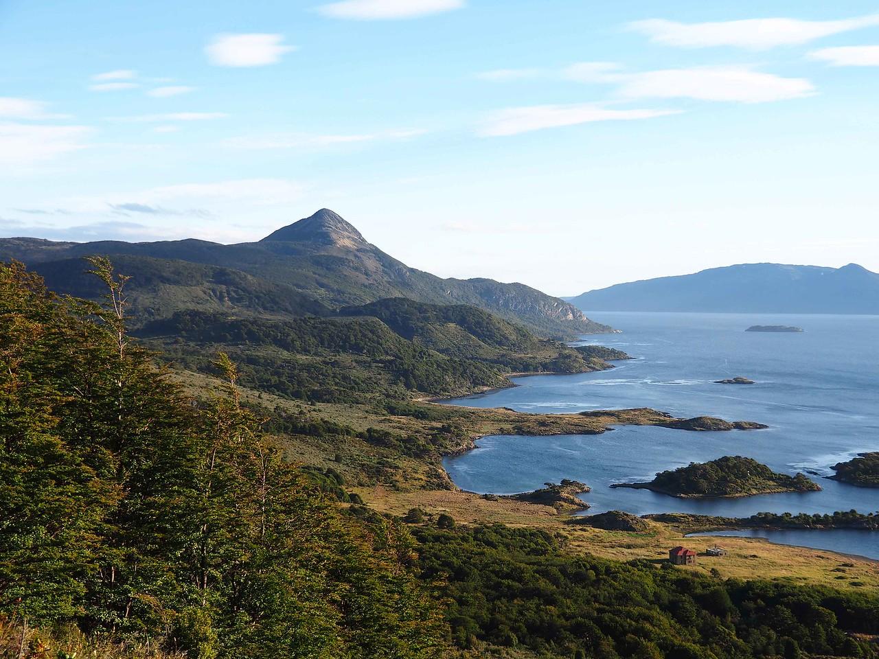 Looking south, Wulaia Bay and Isla Navarino
