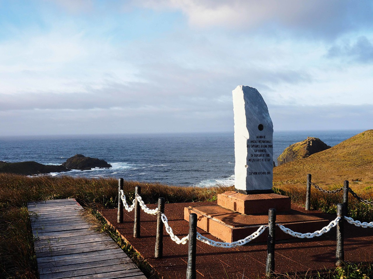 Monument to ship captains that sailed around the Horn