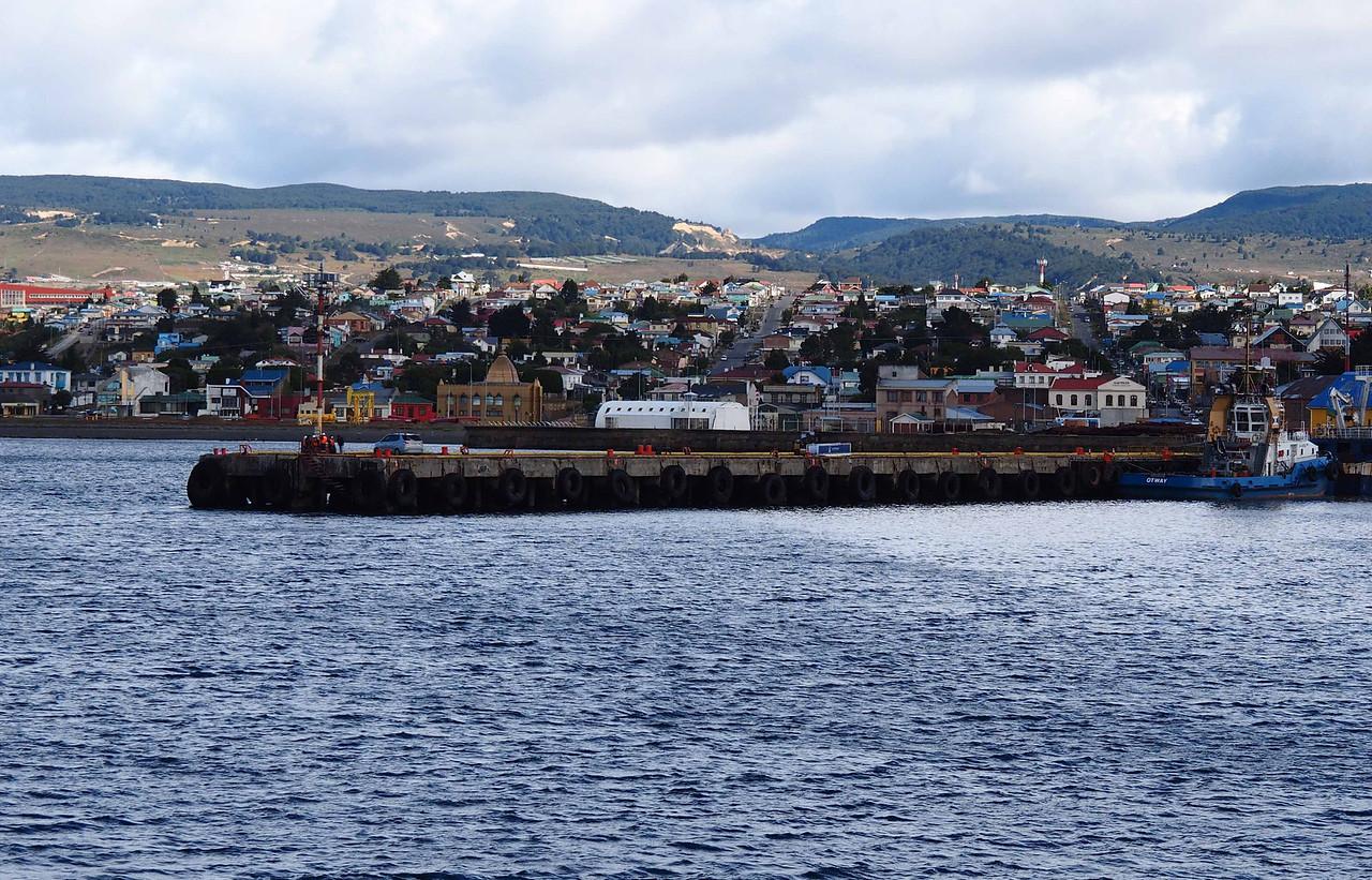 Docking in Punta Arenas Chile