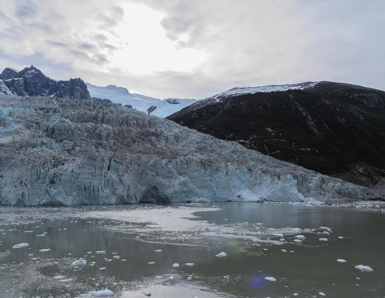 View of the Pia Glacier from the shore