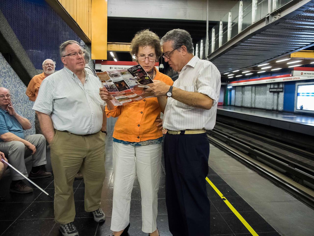 Horacio Cavilli, our tour director (right), with Laura Wexler and John Clark
