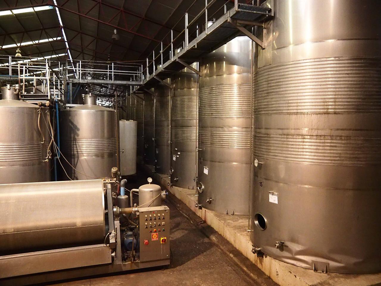 Fermentation tanks, Santa Rita Winery