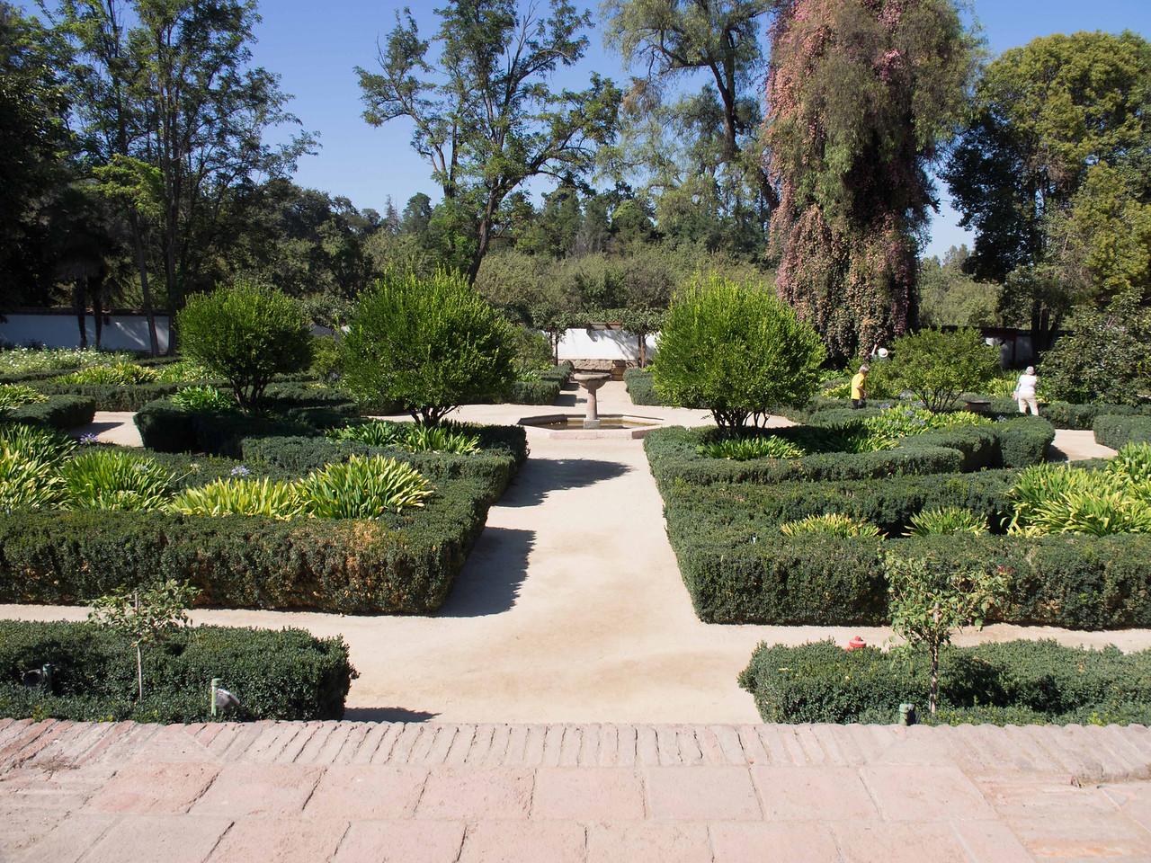 Gardens of the Santa Rita Winery outside of Santiago