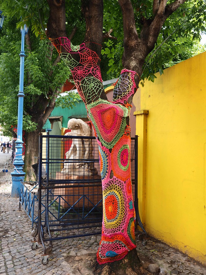 Knitted Tree Wrap, La Boca