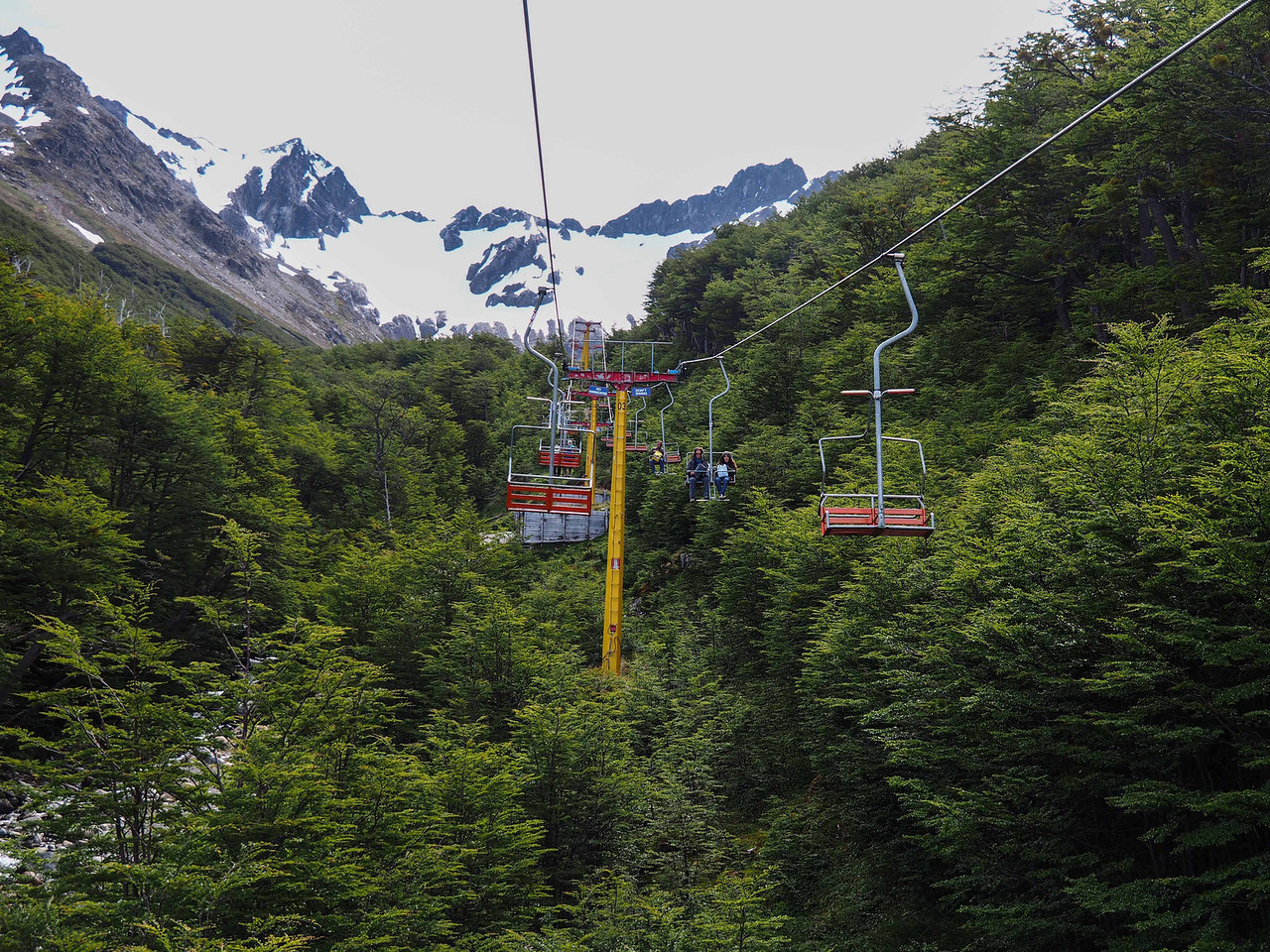 Chairlift to glacier and snow fields, Ushuaia
