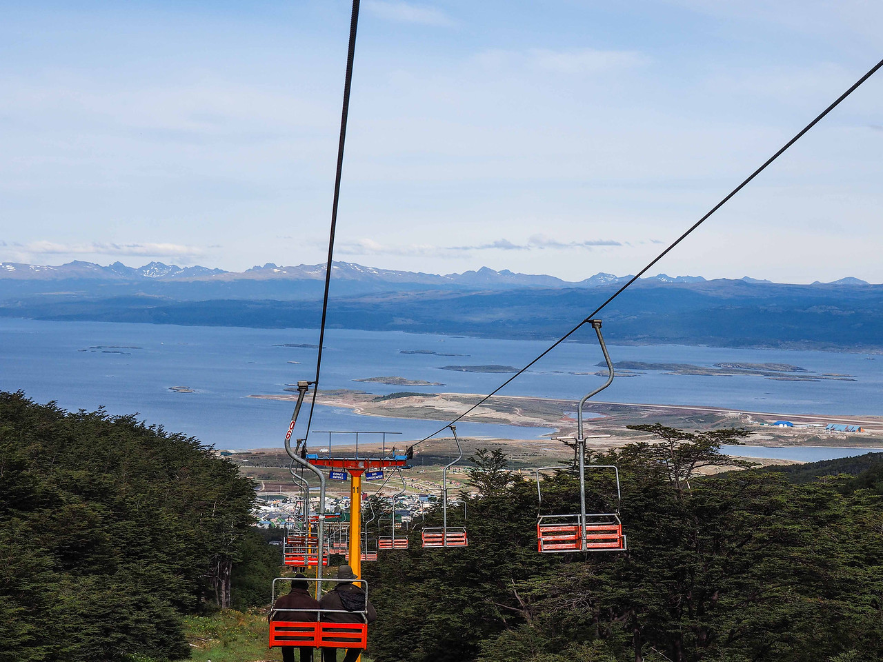 View of Ushuaia on the ride back down