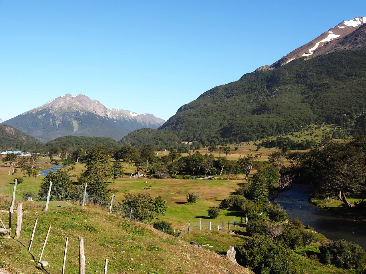 View near the entrance to Tierra del Fuego National Park