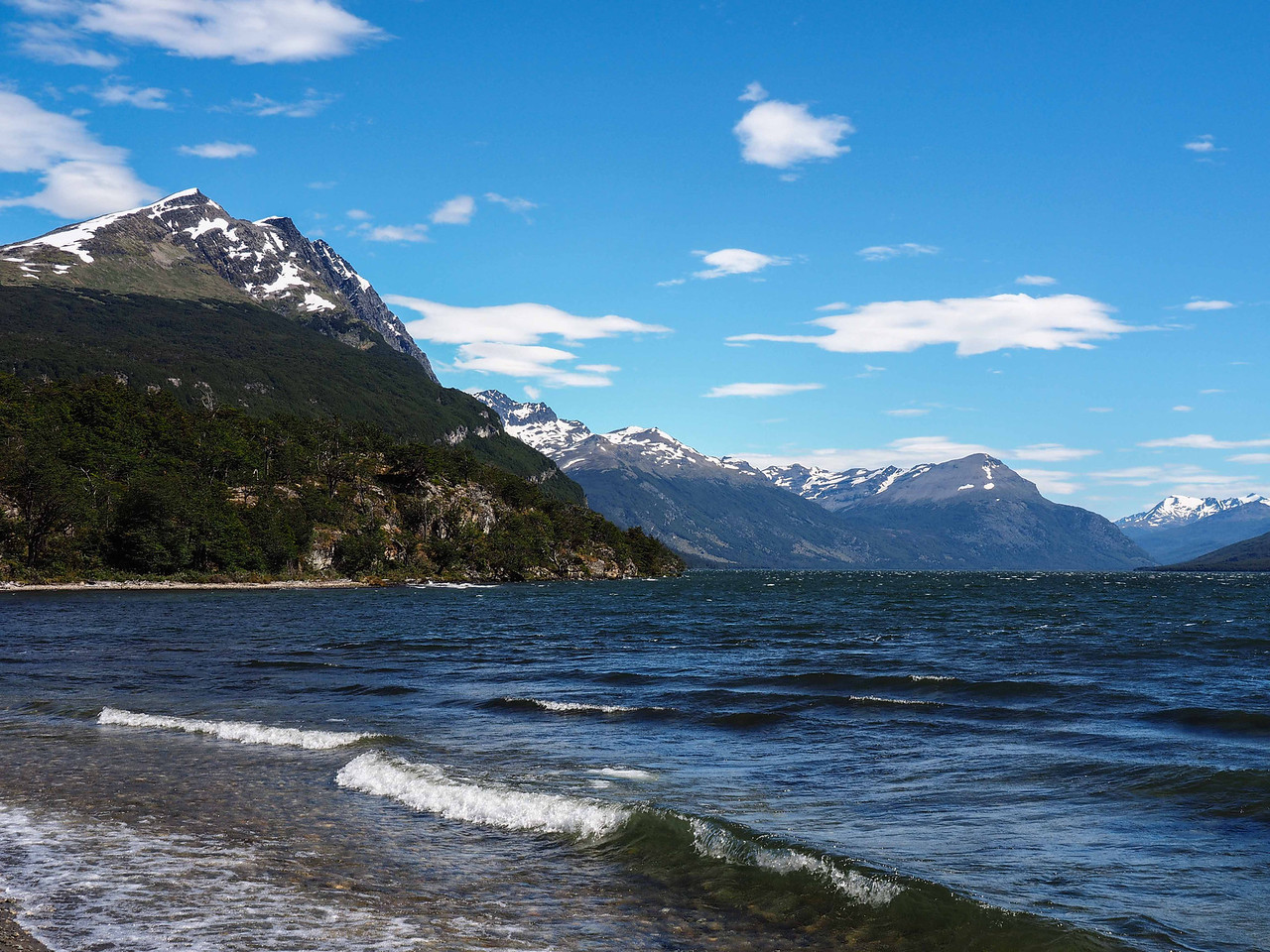 View from the shore of Lago Roca (Lake Roca) , Tierra del Fuego National Park