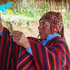 Shaman (Ritual Healer) with Coca Leaves. Healing Ceremony