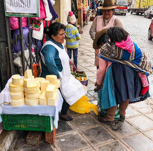 Cheese Vendor, Cusco