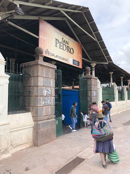 Entrance to San Pedro Market, Cusco