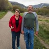 Phyllis and Hugh, Wa,lking around Durango
