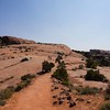 The trail up to Delicate Arch