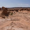 Hiking in the valley, Goblin Valley State Park, Utah