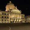 Swiss Parliment bldg. at night