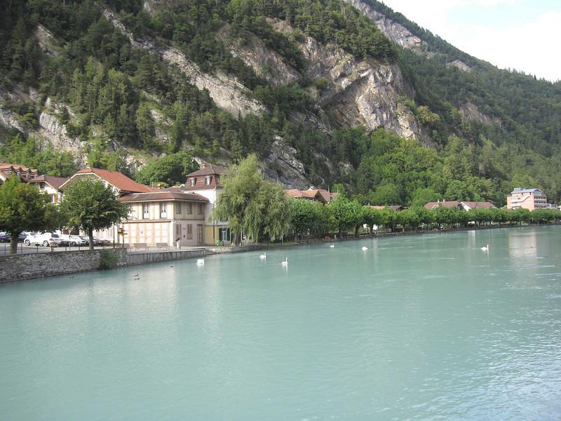 The Aare River in Interlaken