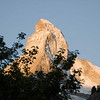 Morning light on the Matterhorn. View from our hotel balcony