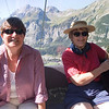 Phyllis and Fran heading up on the tram to Oeschinensee